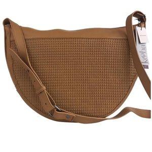 Kooba woven Leather authentic crossbody bag